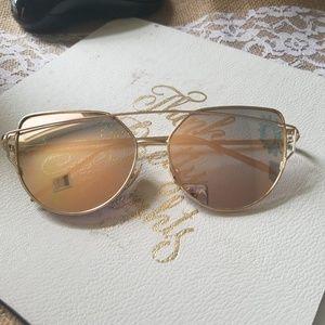 NWOT Gold Sunglasses